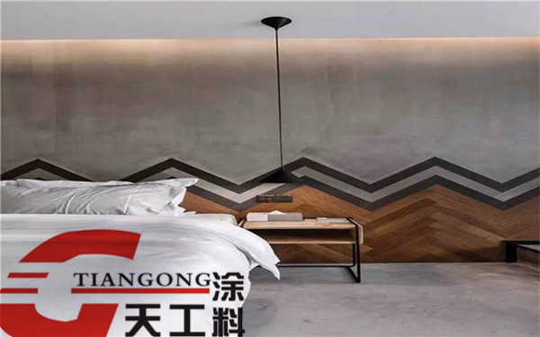 卧室清水漆墙面效果图
