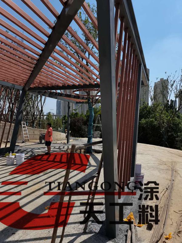 钢架红色木纹漆